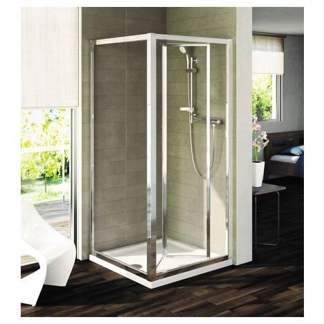 Panou lateral fix Ideal Standard Connect L 95 cm sticla transparenta profil argintiu imagine