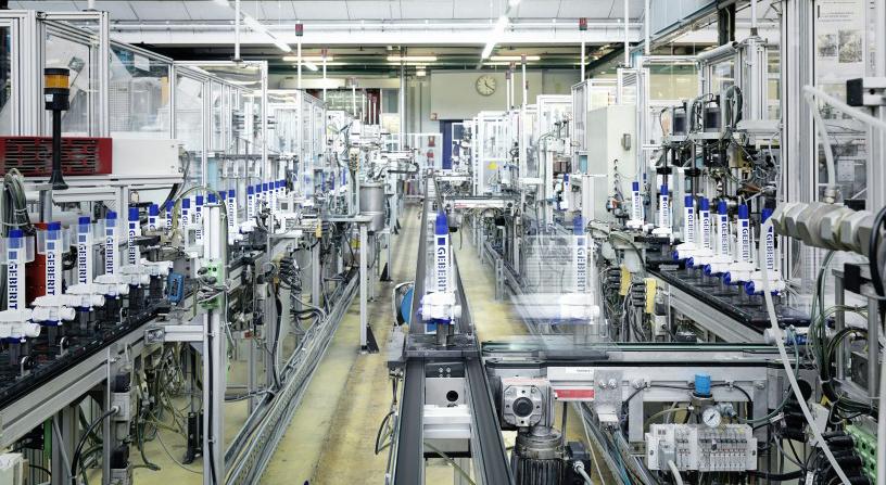 Linie de productie moderna Geberit
