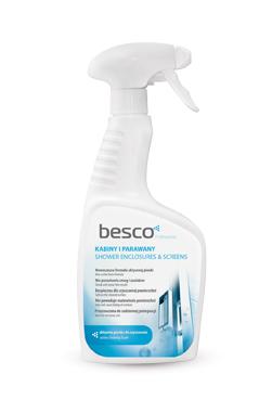 Solutie de curatare Besco pentru cabine dus si paravane cada sticla sau plastic imagine