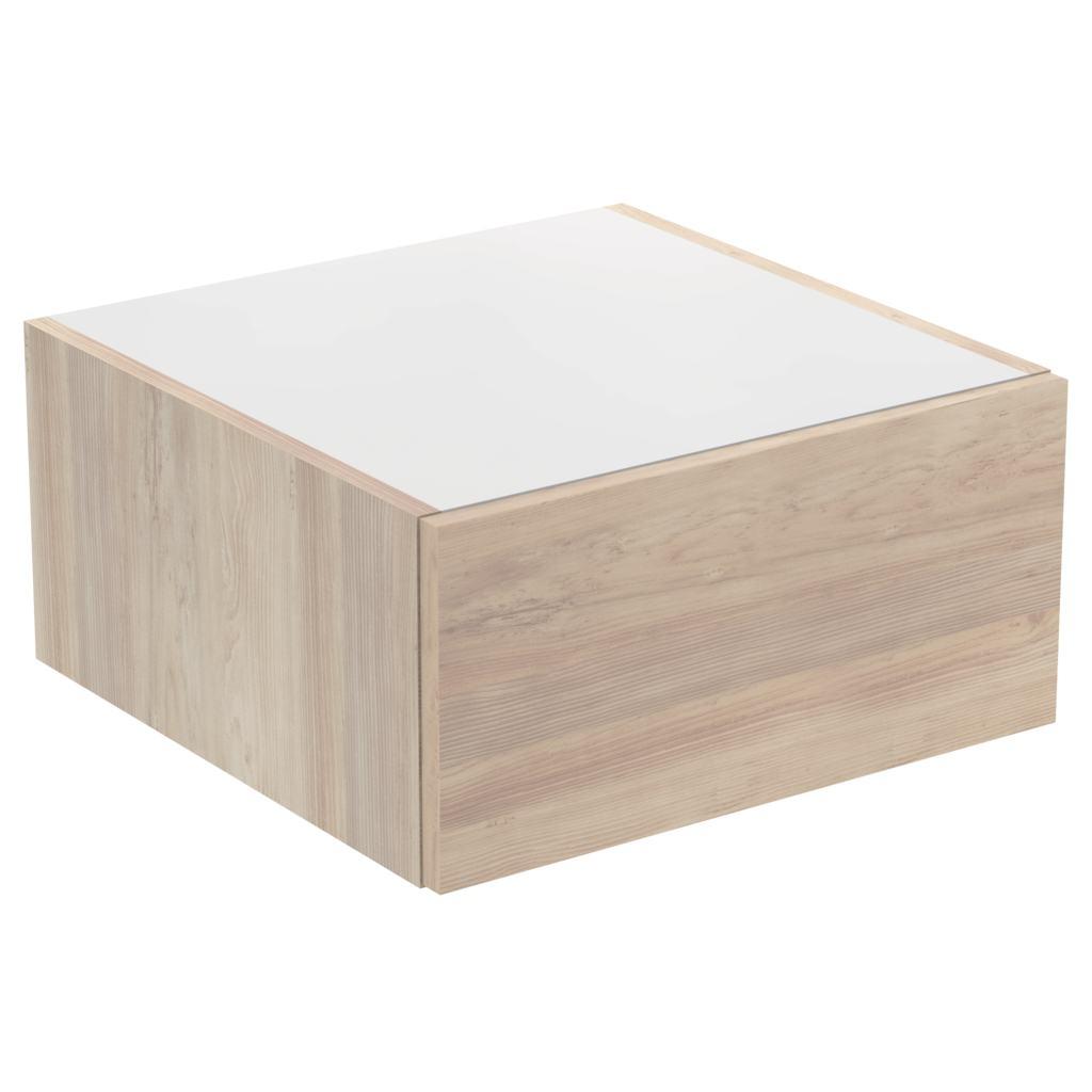 Dulap baza Ideal Standard Adapto cu un sertar 50x50x24.5cm maro deschis imagine