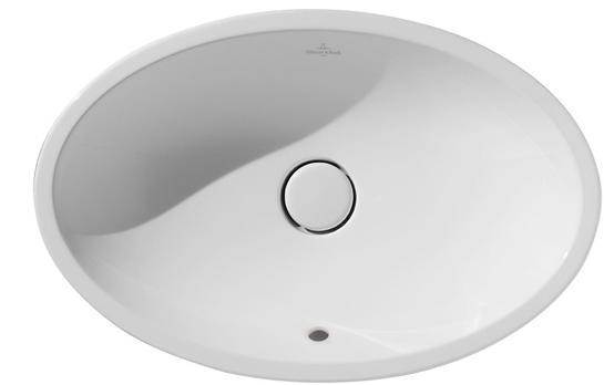 Lavoar tip bol Villeroy & Boch Loop&Friends 63x43cm cu preaplin ventil ceramic montare pe blat imagine