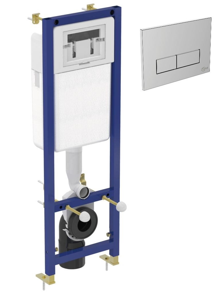 Set rezervor incastrat Ideal Standard cu cadru metalic si clapeta crom imagine