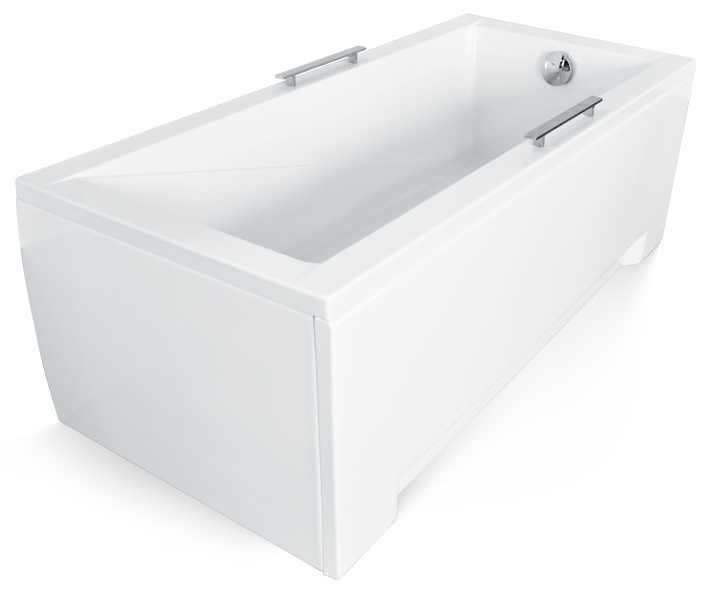 Cada baie rectangulara Besco Modern 130x70cm acril imagine