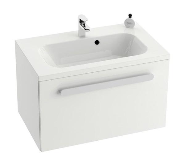 Dulap baza pentru lavoar Ravak Concept Chrome SDU 600 cu un sertar 60x49x47cm alb imagine