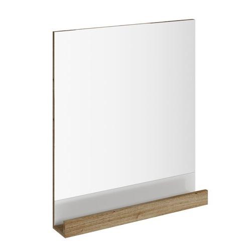 Oglinda baie Ravak Concept 10° cu polita 65x75x11cm nuc inchis imagine