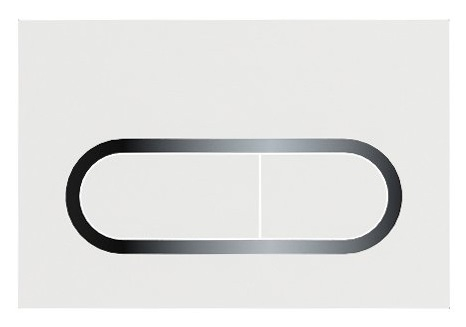 Clapeta rezervor Ravak Concept Chrome alb imagine