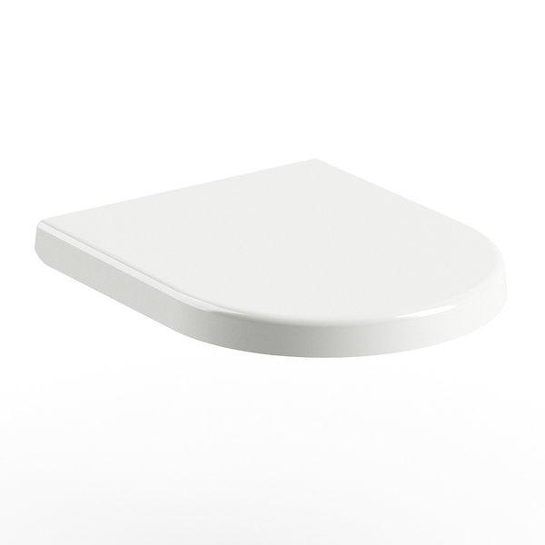 Capac WC Ravak Concept Chrome Uni 02A cu inchidere lenta alb imagine