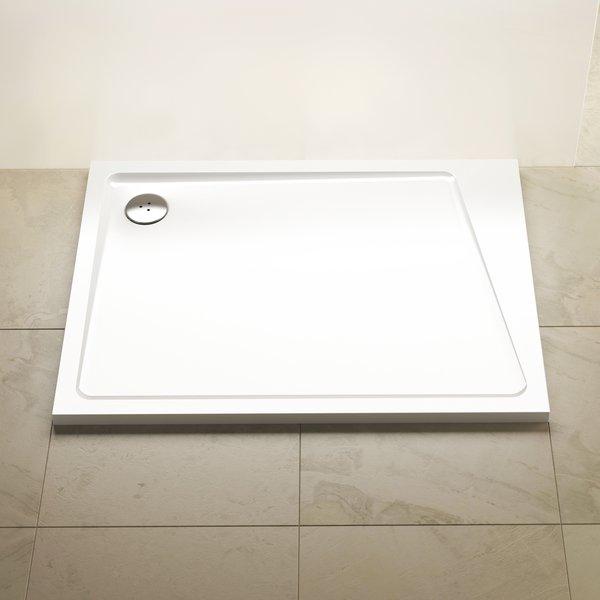 Cadita de dus rectangulara Ravak Concept 10° Gigant Pro 100x80cm dreapta alb imagine