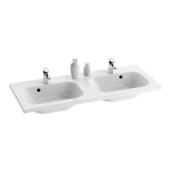 Lavoar dublu Ravak Concept Chrome 120x49cm montare pe mobilier alb imagine