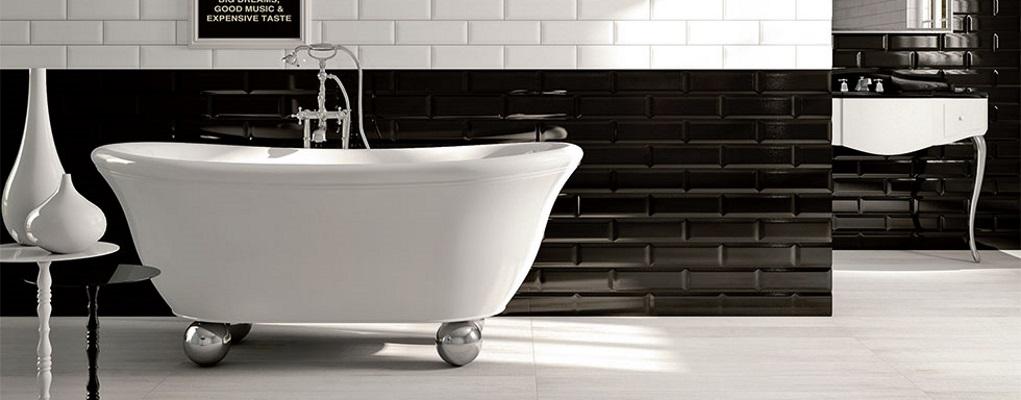 Faianta Iris Ceramica pentru decor baie alb-negru