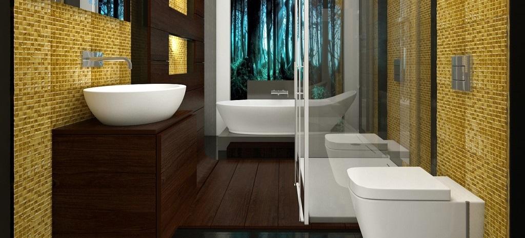 Baie moderna cu vas wc suspendat si lavoar Ideal Standard Strada