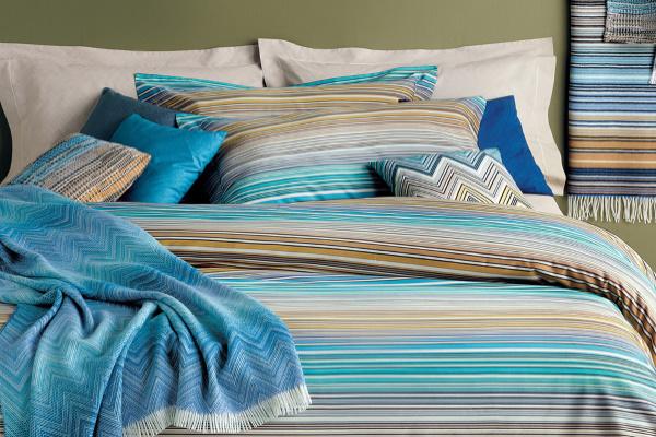 Lenjerie de lux Missoni Home albastra