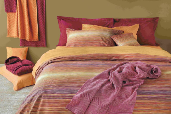 Lenjerie de pat premium Missoni Home colorata