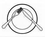 Poziția tacâmurilor la sfârșitul mesei