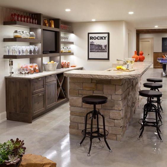 Amenajarea barului în bucătărie