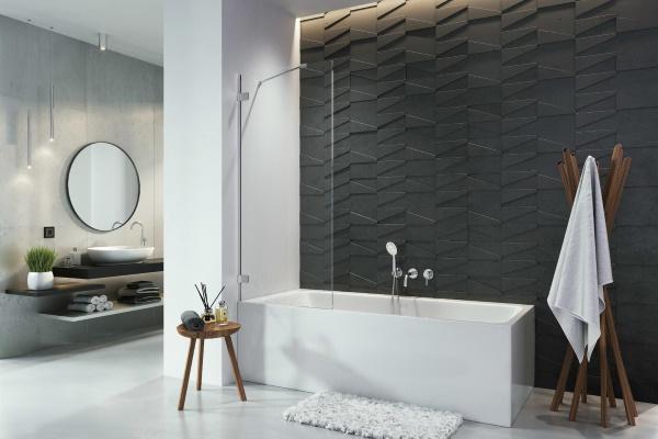 Baie de lux cu design minimalist