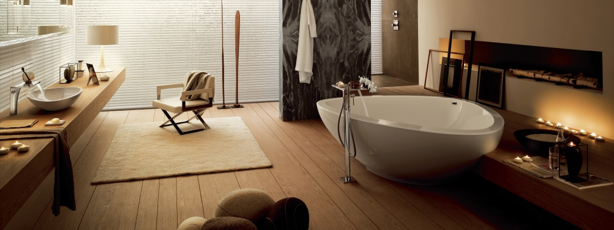Baie open space cu design organic Hansgrohe
