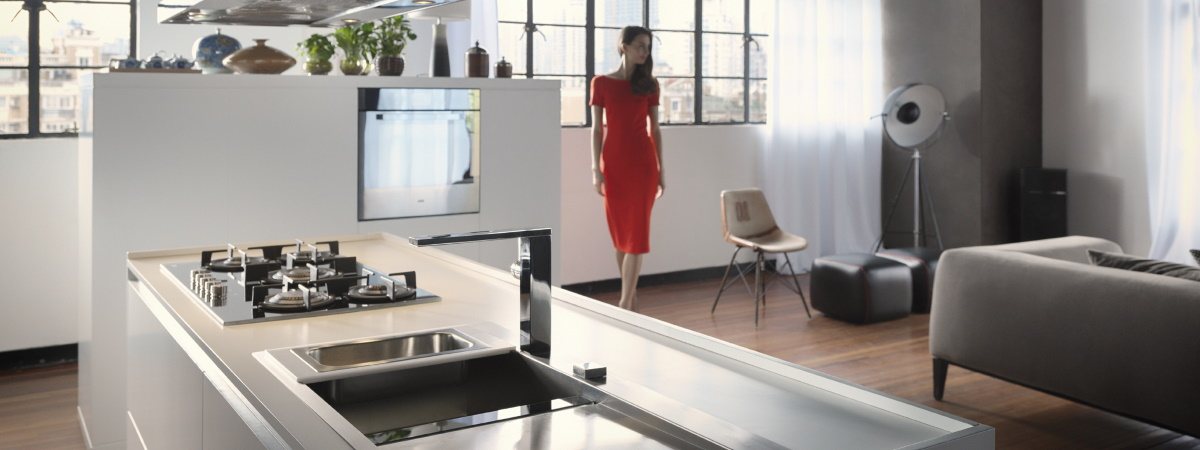 Bucatarie si living open space Franke Crystal