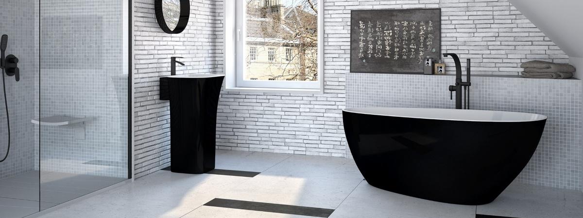 Cada de baie neagra Besco Goya