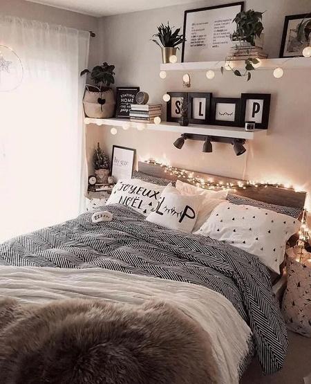 Dormitor cu iluminare discreta