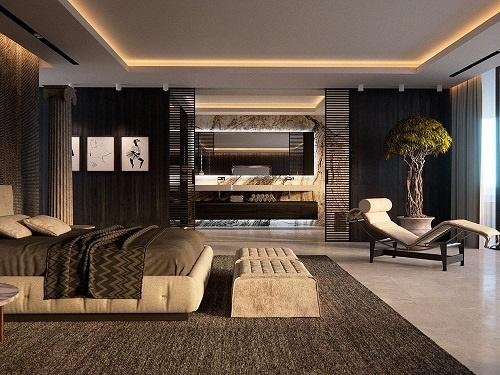 Dormitor modenr open space