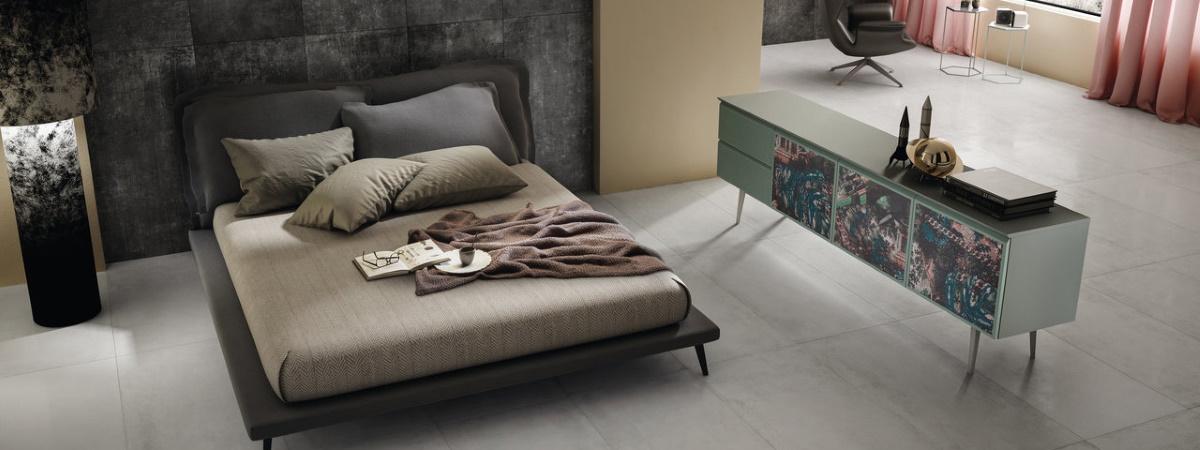 Dormitor modern cu gresie Iris Ceramica