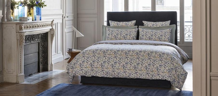 Lenjerie de pat eleganta alba cu model floral