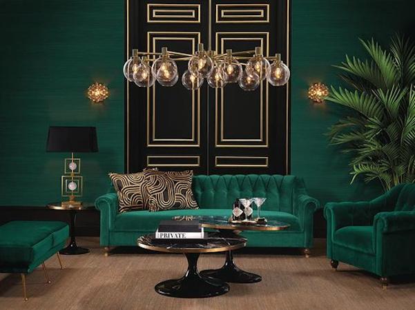Design interior in stil art deco