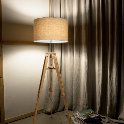 Lampadar din lemn in stil scandinav Ideal Lux