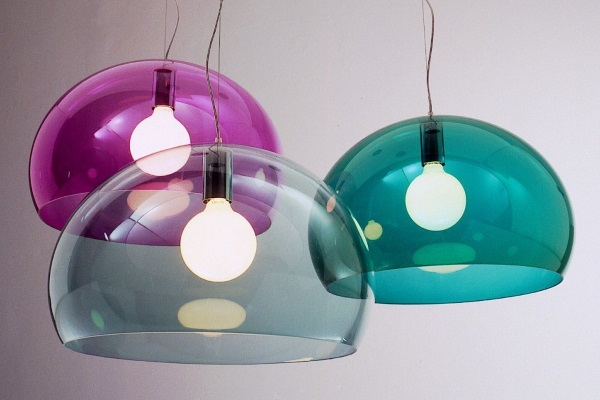 Suspensii transparente colorate Kartell Fly