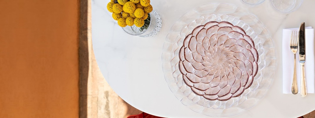 Farfurii transparente moderne din PMMA Kartell Jelly
