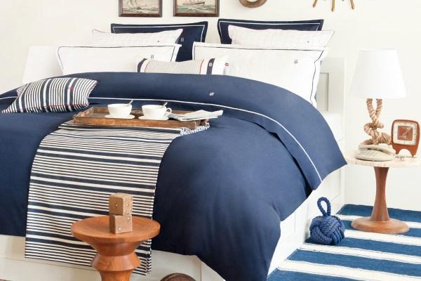 Lenjerie de pat Tommy Hilfiger Albastru Navy