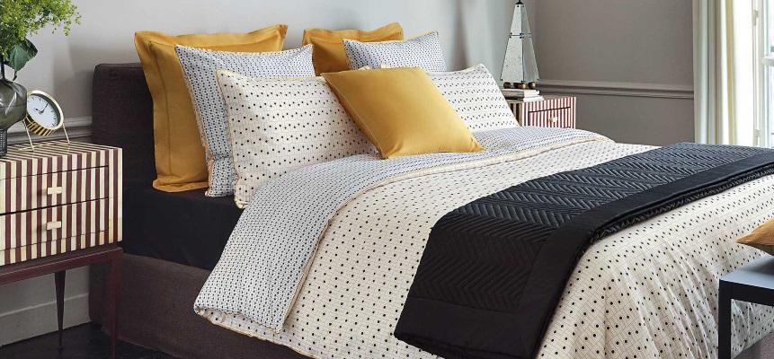 Lenjerie de pat de lux Descamps Domino