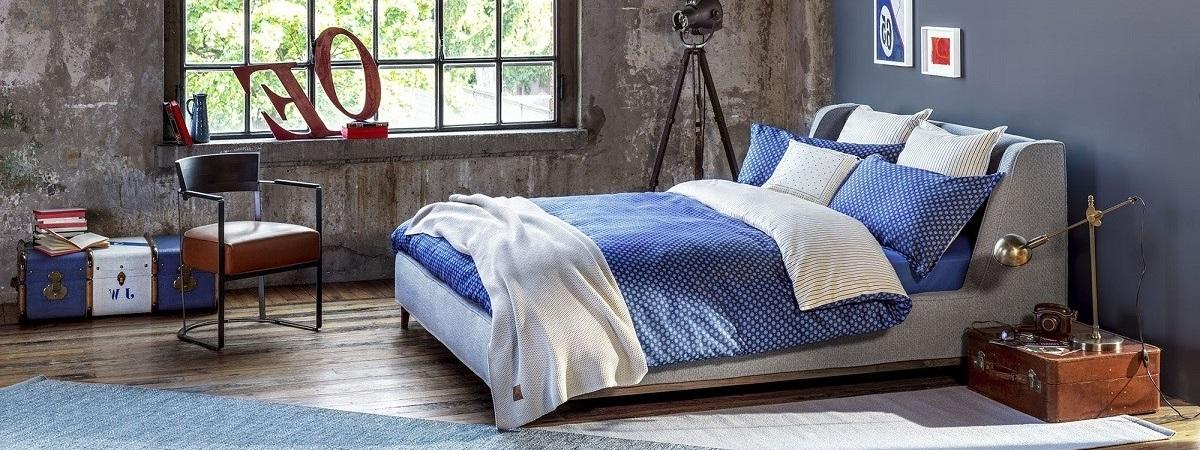 Dormitor cu lenjerie de pat Tommy Hilfiger Polka Dots Albastru