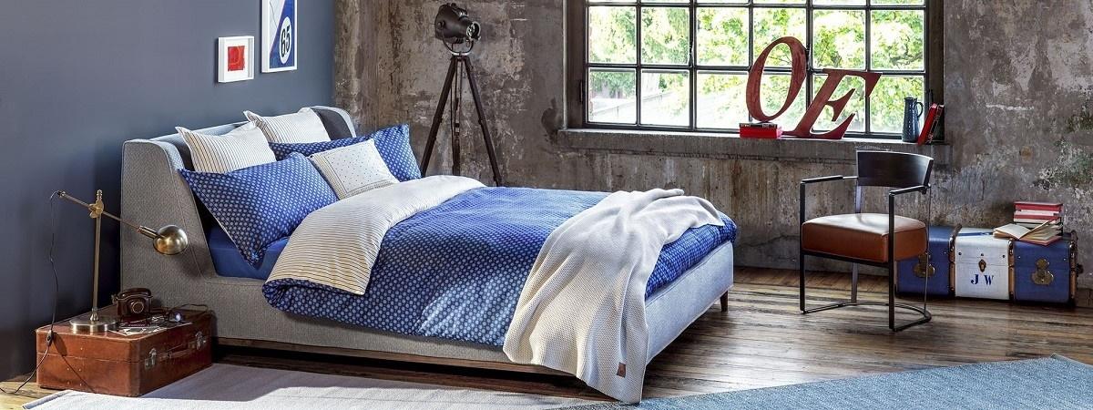 Lenjerie de pat din bumbac satinat Tommy Hilfiger