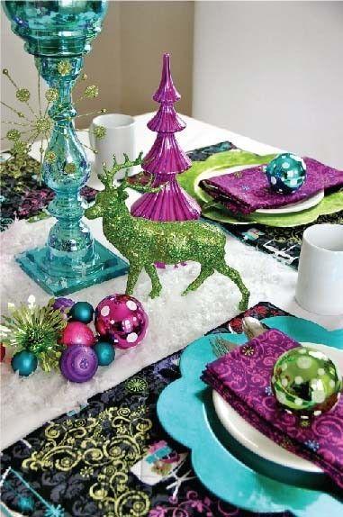 Decoratiuni colorate pentru masa de Craciun