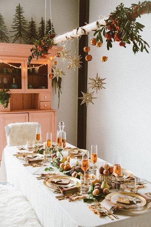Decoratiuni frumoase pentru masa de Craciun