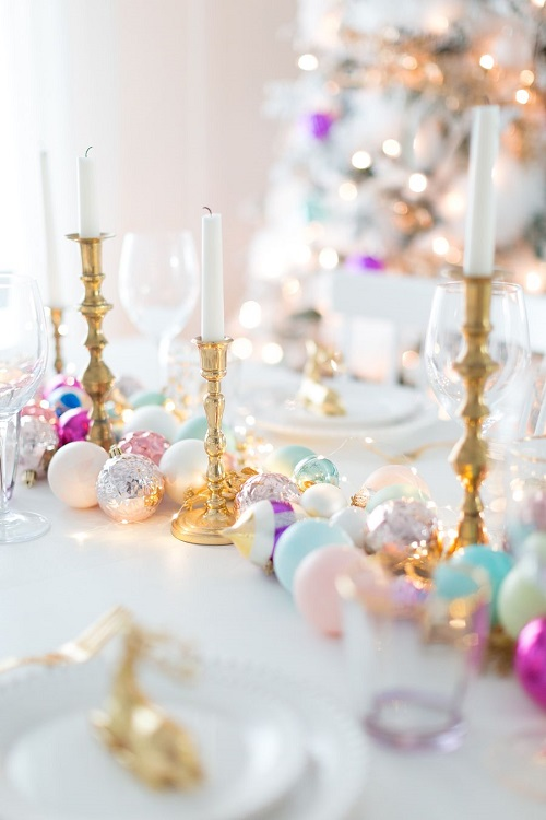 Decoratiuni pastelate pentru masa