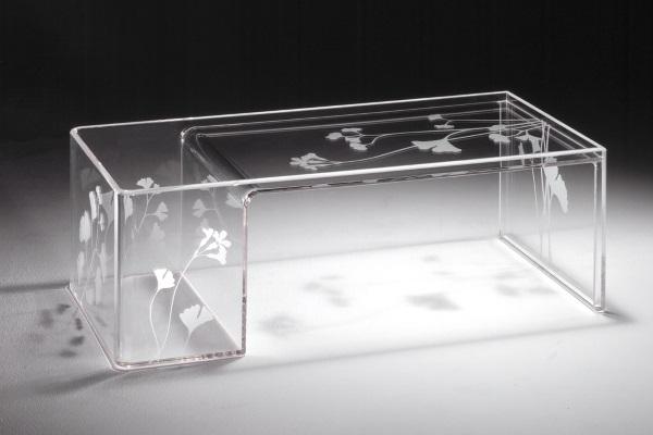 Masuta transparenta din plastic acrilic Kartell Usame