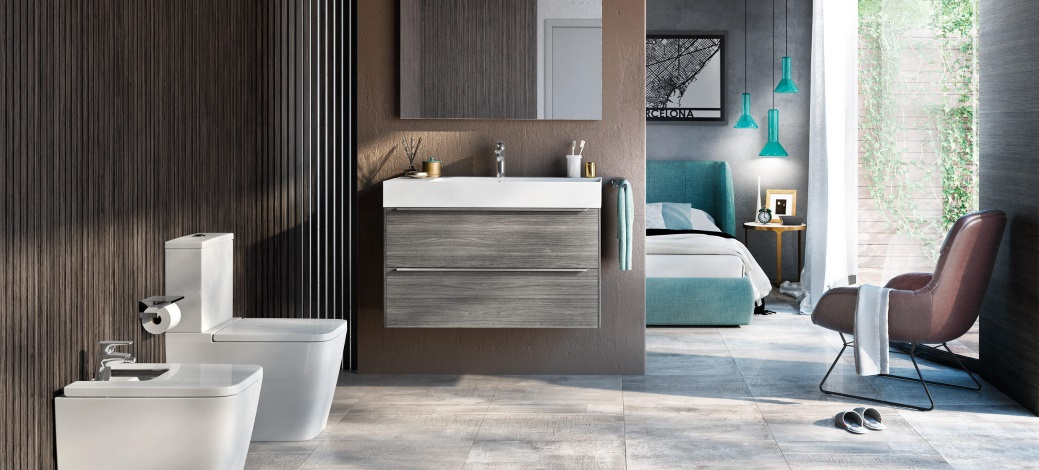 Baie cu sanitare si mobilier Roca Inspira